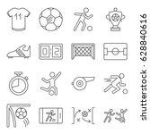 set of football related vector...   Shutterstock .eps vector #628840616