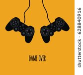 flat design gaming concept  ... | Shutterstock .eps vector #628840916