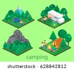 isometric flat 3d isolated... | Shutterstock .eps vector #628842812