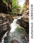 morada do sol waterfall in... | Shutterstock . vector #628843148