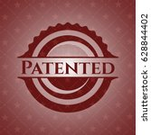 patented red emblem | Shutterstock .eps vector #628844402