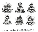 farm products  label set.... | Shutterstock .eps vector #628854215