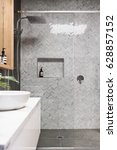 rain shower with herringbone... | Shutterstock . vector #628857152
