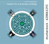 search for a strategy. four... | Shutterstock .eps vector #628861292
