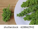 fresh huauhzontle in plate ...   Shutterstock . vector #628862942