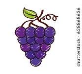grapes fresh fruit icon | Shutterstock .eps vector #628868636