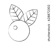 cherry fresh fruit icon | Shutterstock .eps vector #628872302