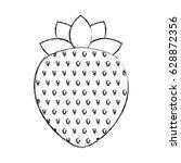 strawberry fresh fruit icon | Shutterstock .eps vector #628872356