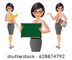 elegant people businesswoman | Shutterstock .eps vector #628874792