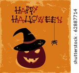 vector grunge halloween card | Shutterstock .eps vector #62887714