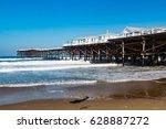 crystal pier in pacific beach... | Shutterstock . vector #628887272