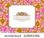 vintage delicate invitation...   Shutterstock .eps vector #628892486