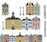 old town houses. vector... | Shutterstock .eps vector #62889292