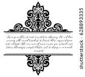 abstract art invitation card  | Shutterstock .eps vector #628893335