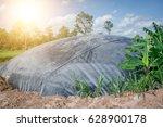 hdpe sheet biogas cover lagoon | Shutterstock . vector #628900178