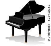 musical instrument grand piano. ...