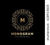 luxury monogram logo template. | Shutterstock .eps vector #628915835
