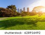 evening  sydney city park and... | Shutterstock . vector #628916492