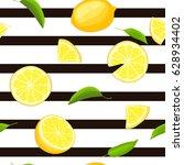 ripe juicy tropical lemon... | Shutterstock .eps vector #628934402
