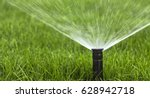 automatic sprinkler system... | Shutterstock . vector #628942718