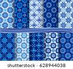 set of abstract vector paper... | Shutterstock .eps vector #628944038