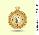 gold compass  | Shutterstock .eps vector #628956392
