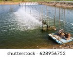 Small photo of Surface aerator for water treatment in shrimp farm