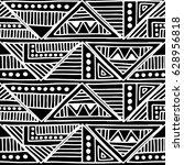 seamless vector pattern. black...   Shutterstock .eps vector #628956818