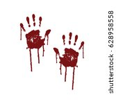 Bloody Scary Hands  Vector