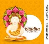 illustration of buddha purnima  ... | Shutterstock .eps vector #628985852