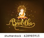 illustration of buddha purnima  ... | Shutterstock .eps vector #628985915