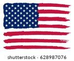grunge usa flag. | Shutterstock .eps vector #628987076
