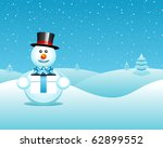 vector christmas postcard with...