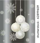 christmas background with balls | Shutterstock .eps vector #62899609