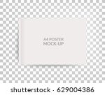 a4 sized mockup of a landscape... | Shutterstock .eps vector #629004386