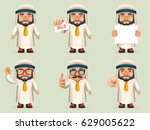 finger pointing up businessman... | Shutterstock .eps vector #629005622