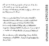 handwriting  | Shutterstock .eps vector #629015858