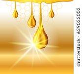 golden yellow honey light shiny ...   Shutterstock .eps vector #629022002