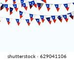 chile flag festive bunting... | Shutterstock . vector #629041106