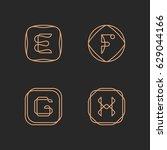 vector letters e  f  g  h logo... | Shutterstock .eps vector #629044166
