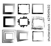 rectangular frame vector2 | Shutterstock .eps vector #629049632