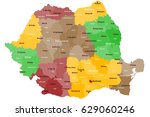 large and detailed map of...   Shutterstock .eps vector #629060246