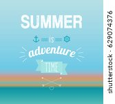 vector illustration of summer... | Shutterstock .eps vector #629074376