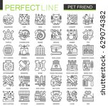 pet friend outline concept... | Shutterstock .eps vector #629074382