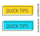 quick tips. set of vector...   Shutterstock .eps vector #629081228