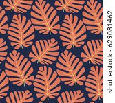 seamless pattern with tropical... | Shutterstock .eps vector #629081462