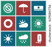 Climate Icons Set. Set Of 9...
