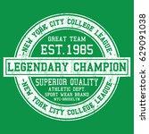 new york city college league ... | Shutterstock .eps vector #629091038