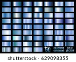 Set Of 60 Blue Metal Gradients...
