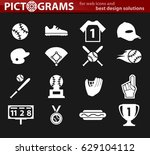 baseball simply icons for web... | Shutterstock .eps vector #629104112
